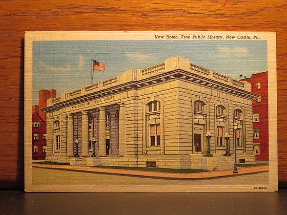 New Home, Free Public Library,  New Castle, Pennsylvania