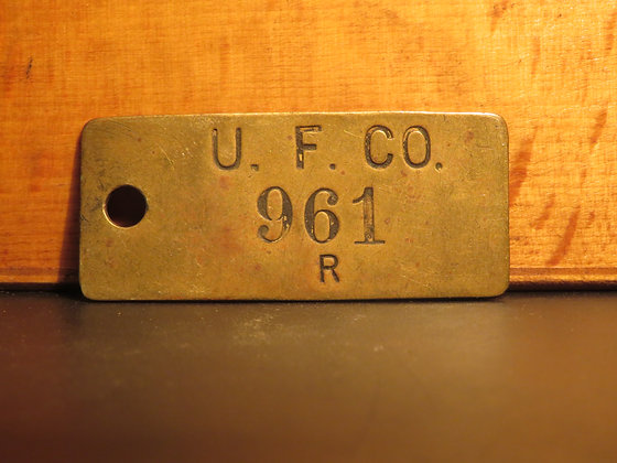 UFCO Brass Inventory Tag E961