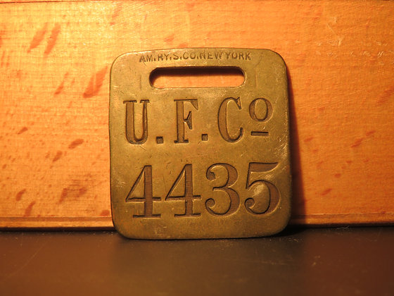 UFCO Brass Luggage Tag 4435