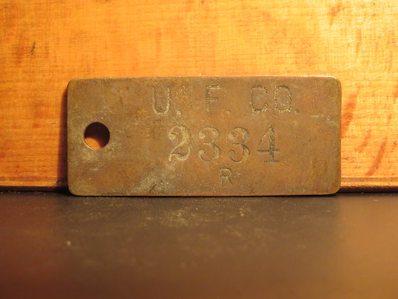 UFCO Brass Inventory Tag E2334