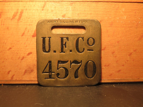 UFCO Brass Luggage Tag 4570