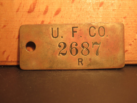 UFCO Brass Inventory Tag 2687