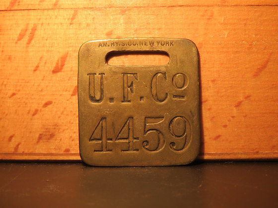UFCO Brass Luggage Tag 4459