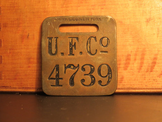 UFCO Brass Luggage Tag 4739