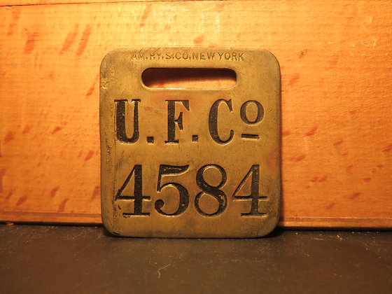 UFCO Brass Luggage Tag 4584