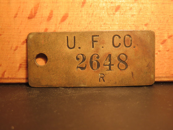 UFCO Brass Inventory Tag 2648