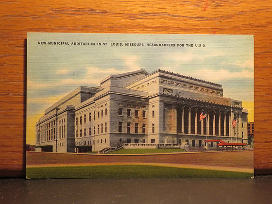 New Municipal Auditorium, St. Louis Missouri  U. S. O.