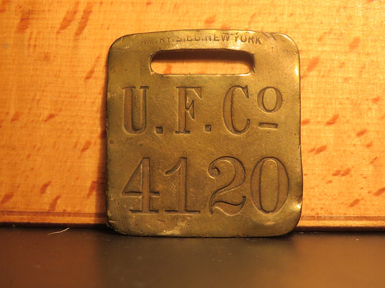 UFCO Brass Luggage Tag F4120