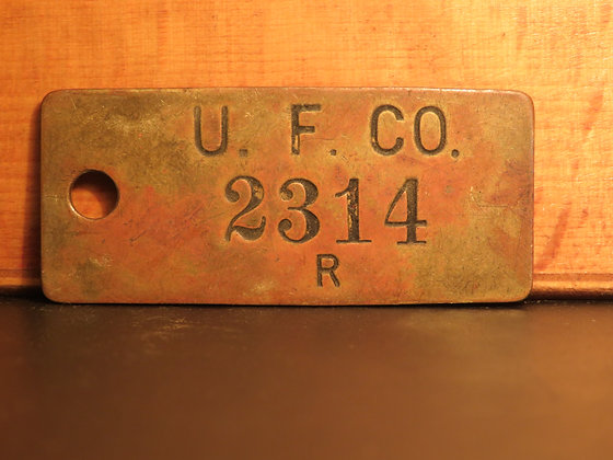 UFCO Brass Inventory Tag 2314
