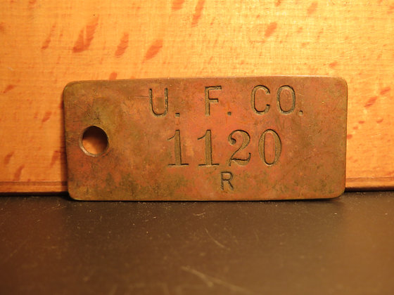 Brass Inventory Tag 1120