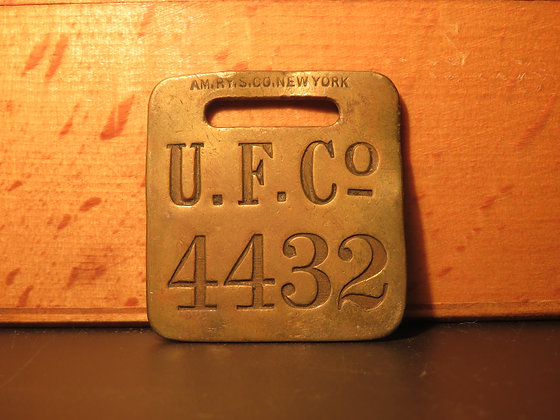 UFCO Brass Luggage Tag 4432