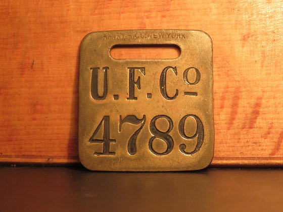 UFCO Brass Luggage Tag 4789