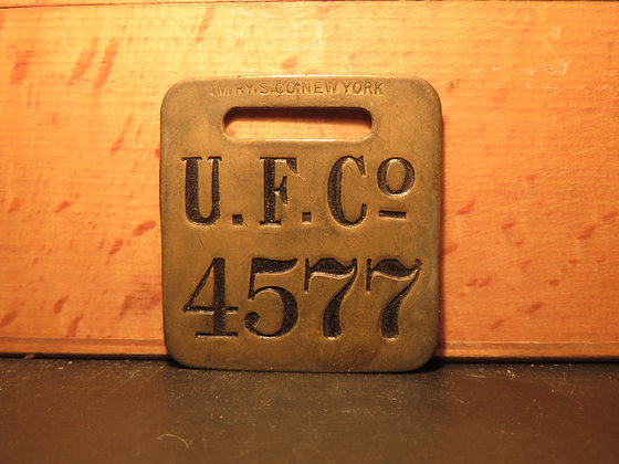 UFCO Brass Luggage Tag 4577