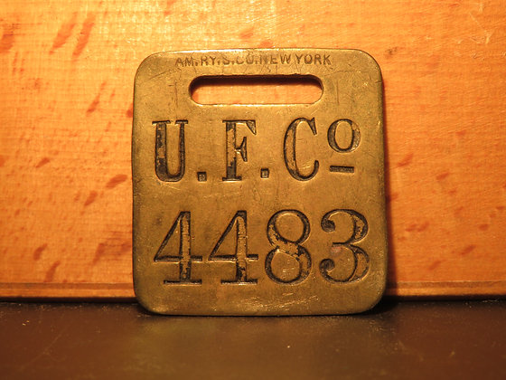 UFCO Brass Luggage Tag 4483