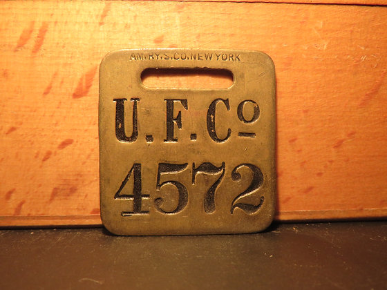 UFCO Brass Luggage Tag 4572