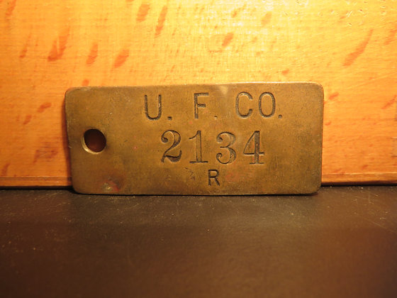 UFCO Brass Inventory Tag 2134