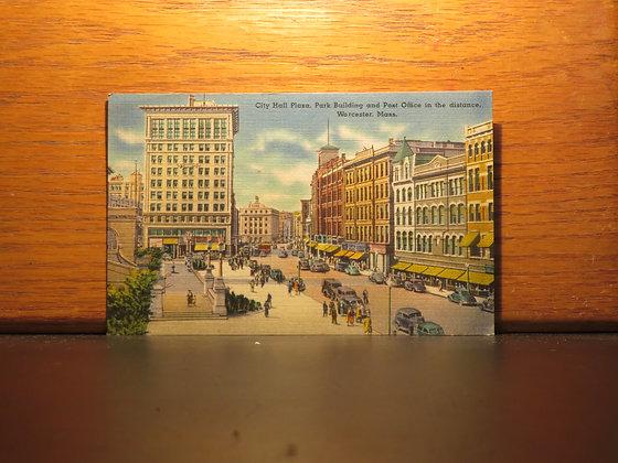 City Hall Plaza, Park Building, Post Office, Worcester, Massachusetts