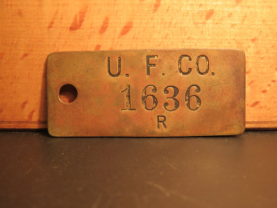 copy of UFCO Brass Inventory Tag 1636