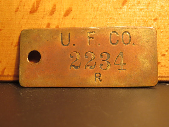 UFCO Brass Inventory Tag 2234