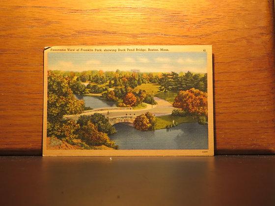 View of Franklin Park, Duck Pond Bridge,  Boston, Massachusetts