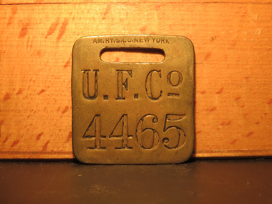 UFCO Brass Luggage Tag 4465