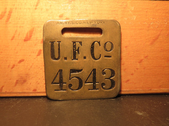 UFCO Brass Luggage Tag 4543