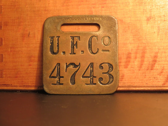UFCO Brass Luggage Tag 4743