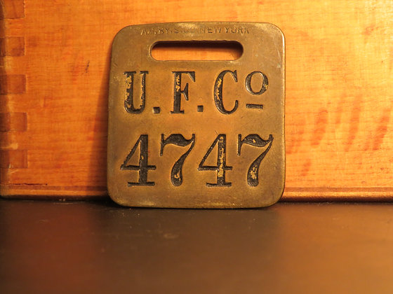 UFCO Brass Luggage Tag 4747