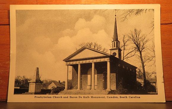 Presbyterian Church and Baron De Kalb Monument, Camden, S. C.