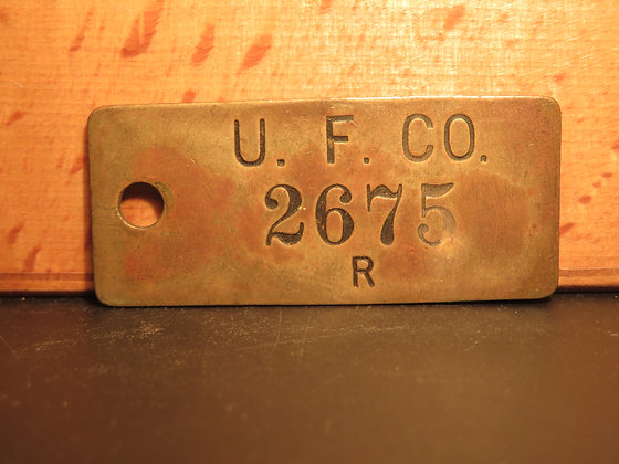 UFCO Brass Inventory Tag 2675
