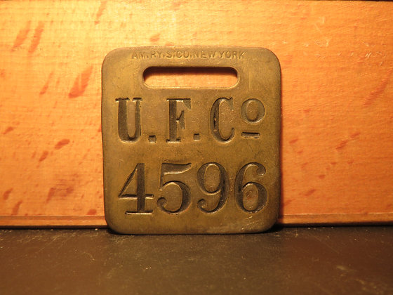 UFCO Brass Luggage Tag 4596
