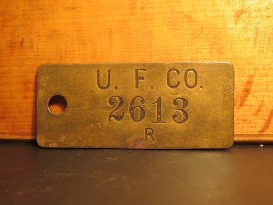 UFCO Brass Inventory Tag  2613