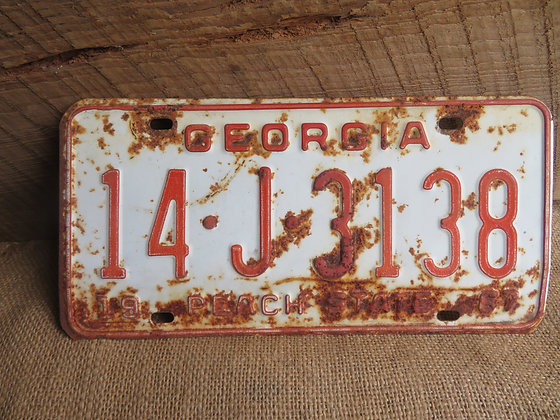 1967 Georgia License Plate