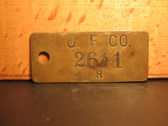 UFCO Brass Inventory Tag 2611