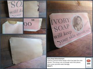 Ivory Soap Advertisement $60