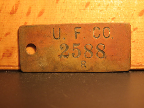 UFCO Brass Inventory Tag 2588