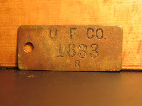 UFCO Brass Inventory Tag 1633