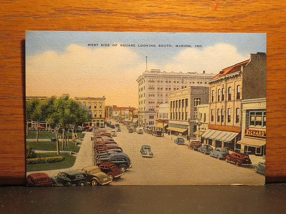 West Side of Square Looking South, Marion, Indiana