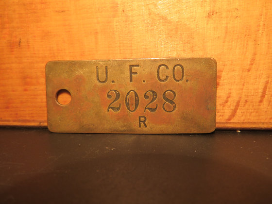 UFCO Brass Inventory Tag 2028