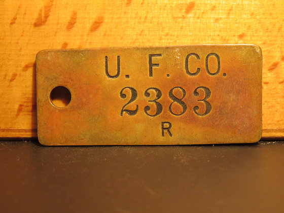 UFCO Brass Inventory Tag 2383