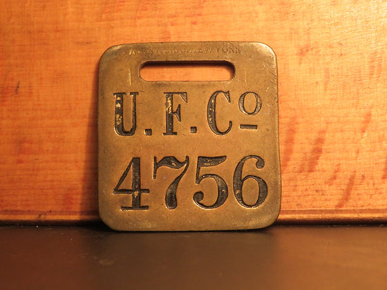UFCO Brass Luggage Tag 4756