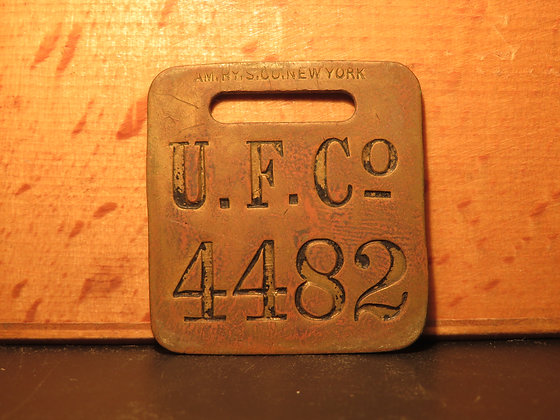 UFCO Brass Luggage Tag 4482