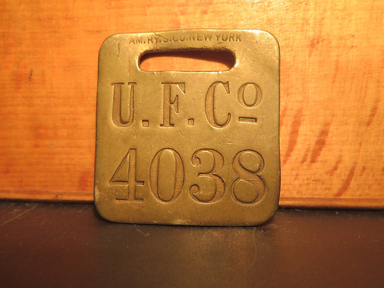 UFCO Brass Luggage Tag 4038