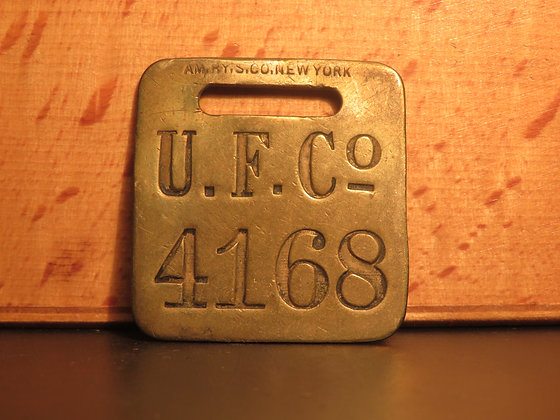 UFCO Brass Luggage Tag F4168