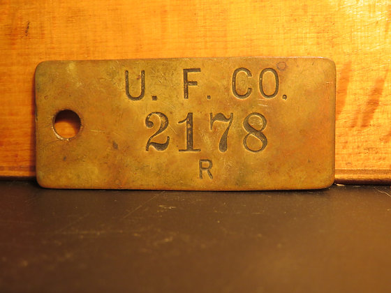 UFCO Brass Inventory Tag  2178
