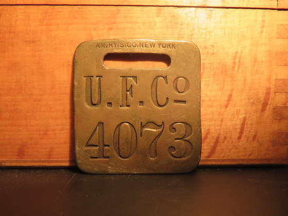 UFCO Brass Luggage Tag 4073
