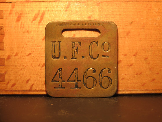 UFCO Brass Luggage Tag 4466