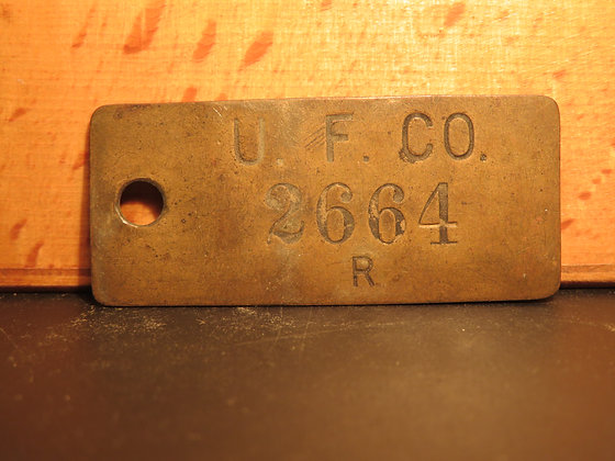 UFCO Brass Inventory Tag 2664
