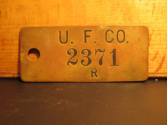 UFCO Brass Inventory Tag  2371