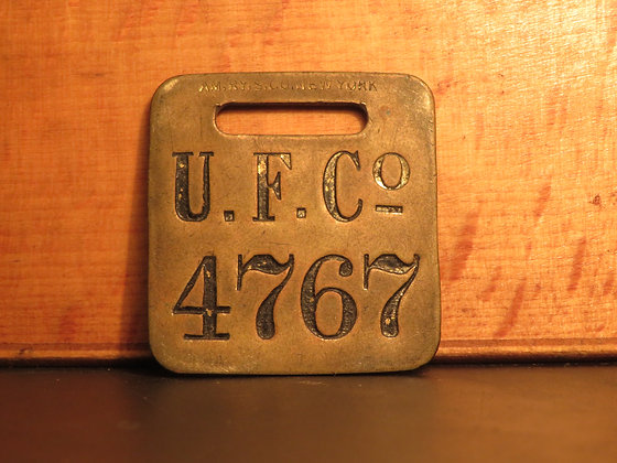 UFCO Brass Luggage Tag 4767